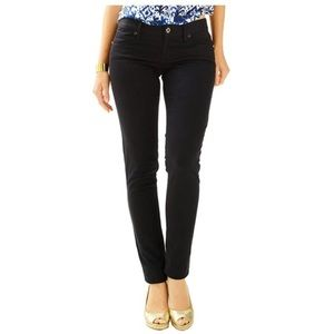 Lilly Pulitzer Worth Sateen Pants Onyx